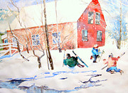 Maine Paintings - Frolic in Vermont by Vannucci Fine Art