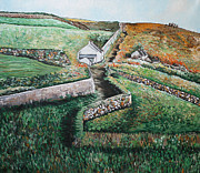 Cape Cornwall Posters - From Cape Cornwall Poster by Diane Griffiths