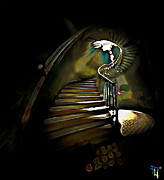 Staircase Digital Art - From Darkness To Light by Byron Fli Walker