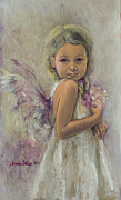 White Painting Metal Prints - From Heaven... Metal Print by Dorina  Costras