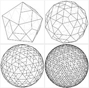 Dodecahedron Prints - From Icosahedron To The Ball Sphere Lines Vector Print by Nenad  Cerovic