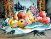 Fruit Drawings Metal Prints - From My Window Metal Print by Mindy Newman