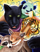 Panther Paintings - From Okin the Panda illustration 17 by Hiroko Sakai