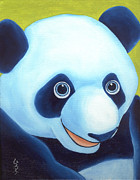 Close Up Painting Metal Prints - From Okin the Panda illustration 2 Metal Print by Hiroko Sakai