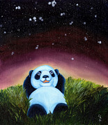 Blue Panda Framed Prints - From Okin the Panda illustration 5 Framed Print by Hiroko Sakai