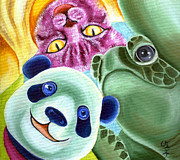 From Okin The Panda Illustration 9 Print by Hiroko Sakai