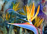 Strelitzia Painting Posters - From Paradise Poster by Mohamed Hirji