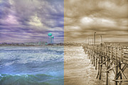 Coastal Scene Posters - From Past to Present Poster by East Coast Barrier Islands Betsy A Cutler