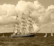 Ship In Sepia Art - From Russia With Love by Kym Backland