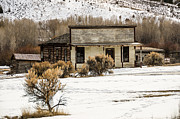 Bannack State Park Montana Framed Prints - From Saloon to Store Front and Home Framed Print by Sue Smith