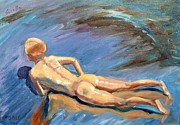 Sorolla Paintings - from Sorollas Boys on the Beach by Jack Riddle