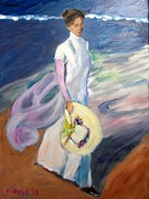 Sorolla Paintings - from Sorollas Strolling on the Seashore by Jack Riddle