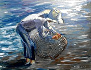 Sorolla Paintings - from Sorollas Valencian Fishermen by Jack Riddle