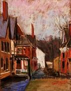 Street Pastels Originals - From the Alley by Tim  Swagerle