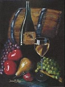 Wine Bottle Images Posters - From the Fruit to The Glass Poster by Diane Strain