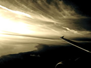 Sun Photos - From the Plane by Gwyn Newcombe