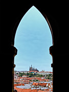 Town Square Prints - From The Prague Clock Tower  Print by Jon Berghoff