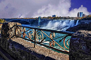 Imaging Framed Prints - From the rail-Niagara Falls Framed Print by Tom Prendergast