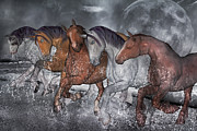 The Horse Digital Art Metal Prints - From the Sea Metal Print by Betsy A Cutler East Coast Barrier Islands