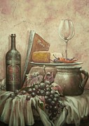 Old Pitcher Painting Prints - From The Vine Print by Martin Lacasse