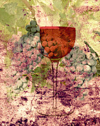 Wines Mixed Media Prints - From The Vine Print by Mindy Bench