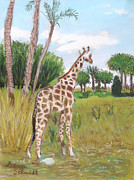Giraffe Pastels - From Up Here I can See Magic Kingdom by Dana Schmidt