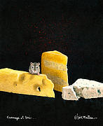 Mice Paintings - Fromage et tois ... by Will Bullas
