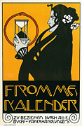 Jugendstil Prints - Fromme Nalender Print by Nomad Art And  Design