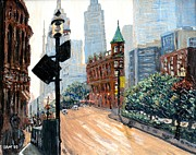 Toronto Painting Originals - Front And Church by Ian  MacDonald