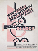 Modern Art Drawings Framed Prints - Front cover of Nouvelles Compositions Decoratives Framed Print by Serge Gladky