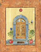 Burnt-orange Framed Prints - Front Door 1 Framed Print by Debbie DeWitt