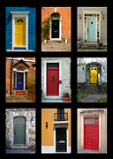 Norman Pogson Framed Prints - Front Doors Framed Print by Norman Pogson