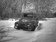 Rusty Pickup Truck Photos - Front Of Old Timer by Thomas Young