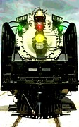 Steam Locomotives Digital Art Posters - Front Of The 844 Poster by Jerry Gose Jr