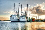 Shrimp Boat Photos - Front of the Line by Scott Hansen
