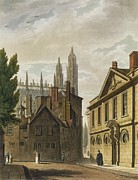 Front Of Trinity Hall, Cambridge Print by Augustus Charles Pugin