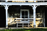 Front Porch Metal Prints - Front Porch Bench Metal Print by Bill Cannon
