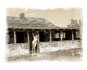 Abandoned Houses Digital Art Prints - Front Porch Greeting Print by Ken Evans