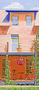 Front Porch Pastels Framed Prints - Front Porch Framed Print by Susan Frank
