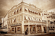 Colonial Building Framed Prints - Front Street in Bermuda Framed Print by Charline Xia