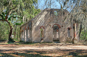St. Helena Photos - Front view of the Chapel of Ease by Scott Hansen