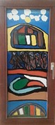 Food Glass Art - Front window by Darrell Black