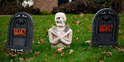 Montage Photos - Front Yard Halloween Graveyard by Amy Cicconi