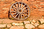 Frontier Photos - Frontier Wagon Wheel by Douglas Barnett