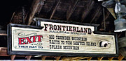 Little Mermaid Digital Art - Frontierland Sign by Thomas Woolworth