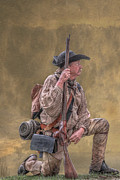 Militiaman Posters - Frontiersman Golden Morning Poster by Randy Steele