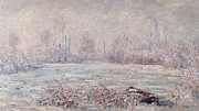 Wintry Prints - Frost near Vetheuil Print by Claude Monet
