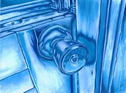 Knob Drawings Prints - Frosted Shut Print by Brian Mako