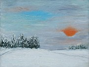 January Paintings - Frosty January by Yan Kalbaska