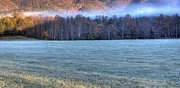 Mark Ross Posters - Frosty Mountain Morning HDR Poster by Mark Ross